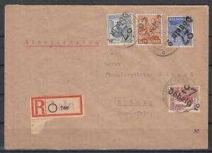 DF8138/ GERMANY SOVIET ZONE DOBELN – MI # 170 + 174 + 178 + A179 ON COVER SIGNED