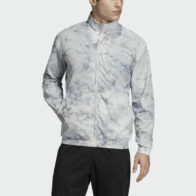 Adidas ID Spray Dye Cover Up Men's Gray Lightweight Jacket New Sz M,L,XL,2XL