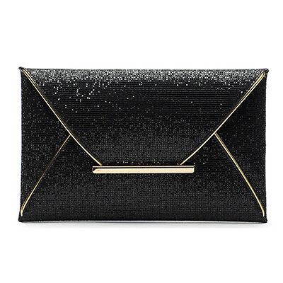Womens Sequins Clutch Envelope Handbag Evening Party Cocktail Prom Bag Purse