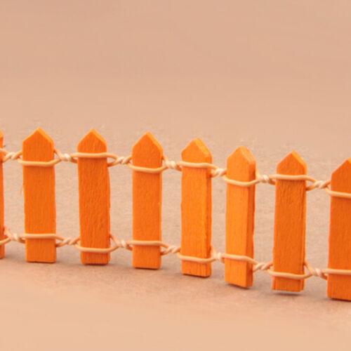 Wooden Mini Picket Fence Miniature Dollhouse Bonsai Craft Landscape Decor DIY/_Lq