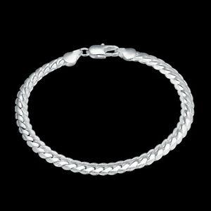 925-Solid-Silver-Bracelet-Fashion-Jewelry-Women-5MM-Snake-Chain-Bracelets-Bangle