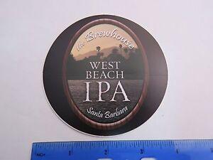 Bier-Aufkleber-die-Brewhouse-West-Strand-Ipa-Santa-Barbara-Kalifornien-Berg