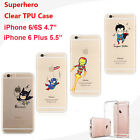 Marvel DC Superhero Soft Gel Jelly Clear Skin Case Cover For iPhone 6 6S 7 Plus