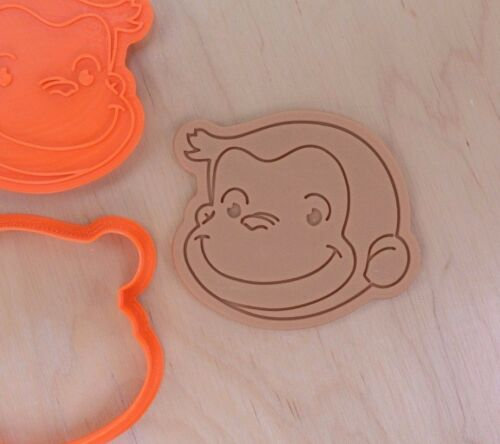 Curious George Cookie Cutter and Stamp Set 3d printed plastic