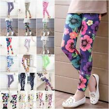 Cute Girls' Colorful Skinny Leggings Casual Kid's Stretchy Pants Trousers 2-14Y