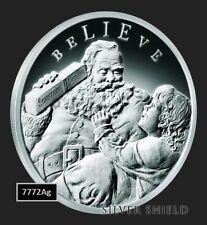 with Magnet and Gift Bag Bigfoot Sasquatch Beli 1-1//2 oz .999 Silver Round