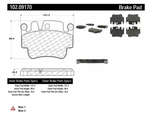 Disc Brake Pad Set-C-TEK Metallic Brake Pads Rear,Front Centric 102.09170