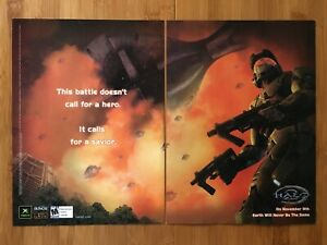 Halo 2 Original Xbox PC 2003 Print Ad/Poster Original Official Master Chief Art