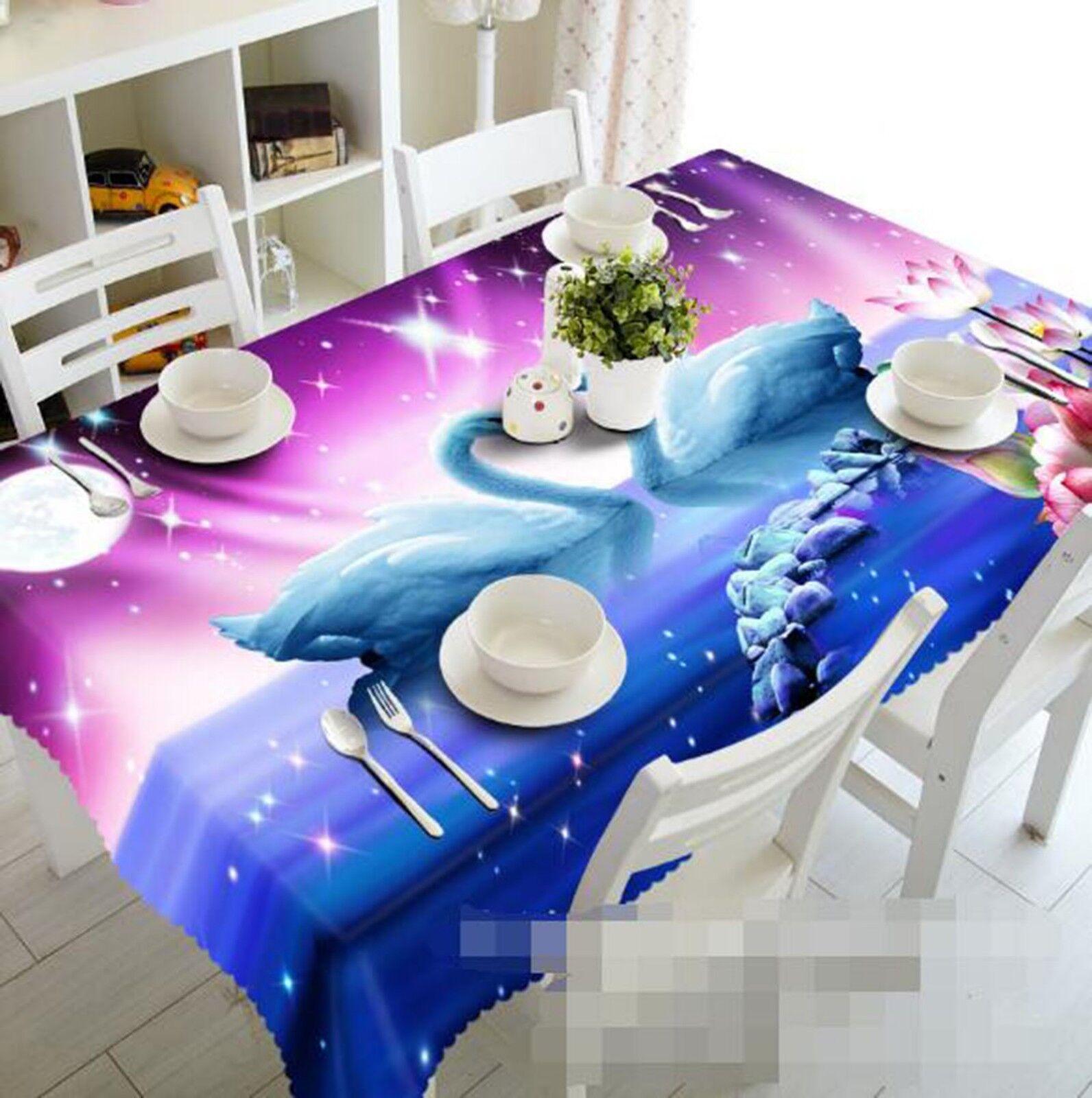 3D Cute Swan 126 Tablecloth Table Cover Cloth Birthday Party Event AJ Lemon