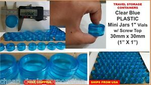 "72X Tiny Small TRAVEL Storage Clear Bottles Glass Mini Jar 1/"" Vials 23x25 WHITE"