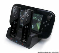 BLACK CHARGER DOCKING STATION + 2x BATTERY PACK FOR WII & WII U REMOTE GAMEPAD