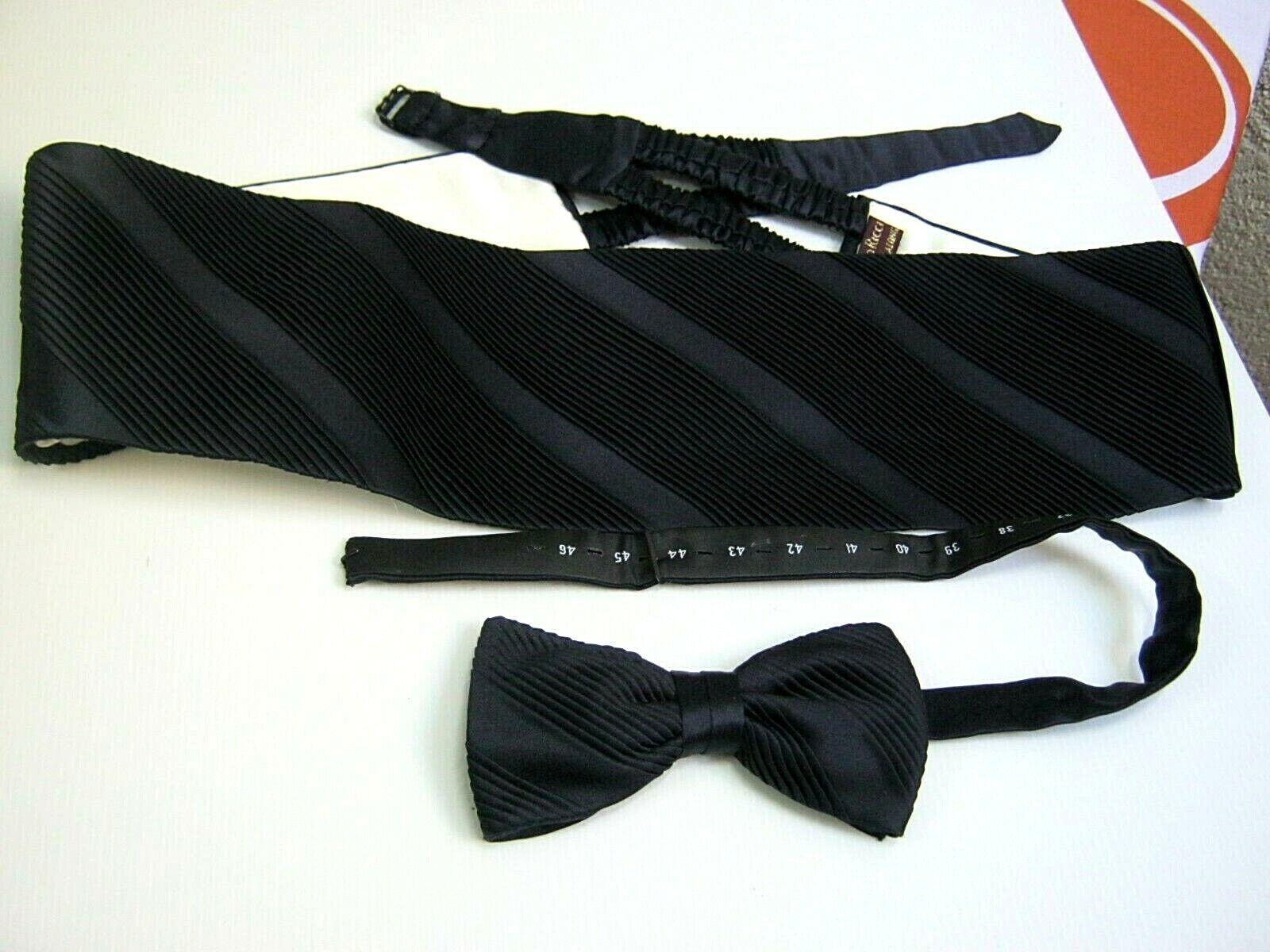 STEFANO RICCI New Statement Band Bow-Tie XL Ceremony Silk