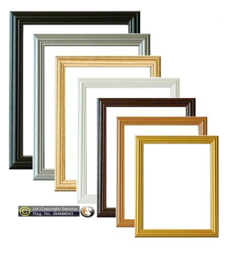 Picture Frame Photo Frames Poster Size Frame Wooden Black Beech Gold ...