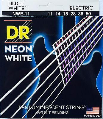 DR Handmade NWE-11 Neon White Electric Guitar Strings 11-50