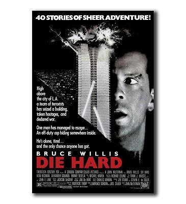 Die Hard MOVIE Bruce Willis Art Silk Poster 12x18 24x36