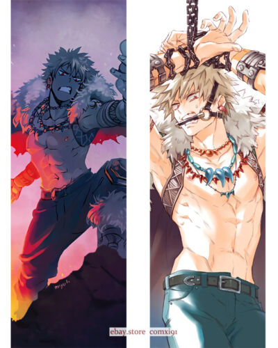 "59/"" Anime My Hero Academia bakugou Dakimakura Bed Hugging Body Pillow Cover Case"