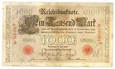 Germany Empire Imperial Reichsbanknote 1000 Mark 1906 VF #26