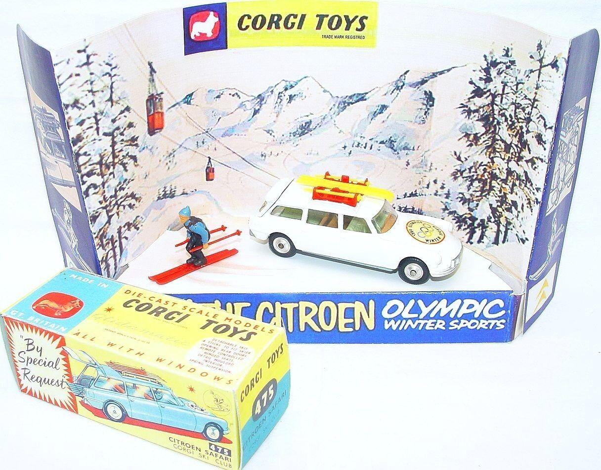 Culfi Code-3 Corgi Toys 1 43 CITROËN DS 19 OLYMPIC WINTER SPORTS CAR Display Set