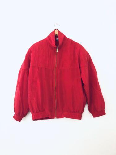 Vintage 90s Fuda International Silk Red Tufted Wi… - image 1