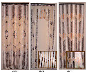Natural Bamboo & Wood Beaded Door Curtain. | eBay
