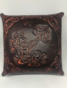 Hand-Crafted-Leather-Celtic-Print-Box-5-X-5-X-3-Brazen-Nine-Canadian-Art