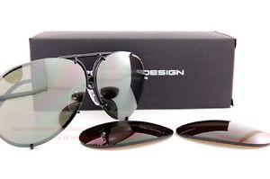 cd491a18840a8 New Porsche Design Sunglasses P8478 8478 D Black Interchangeable ...