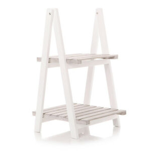 Image Is Loading Natural White 2 Tier Storage Furniture Rack Book