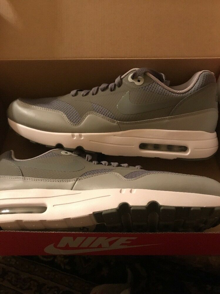 NIKE AIR MAX 1 ULTRA 2.0 ESSENTIAL 875679-001 WOLF GREY DS SIZE  12
