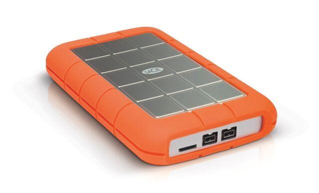 Lacie Rugoso Triplo 2TB Mobile Hard Disk Esterno in Arancio - Usb3.0