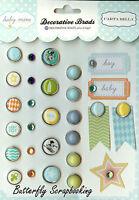 Scrapbooking Brads Baby Boy Collection Carta Balla Paper Co. 28 Pieces
