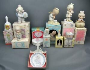 Enesco-PRECIOUS-MOMENTS-Lot-of-11-Vintage-80-039-s-amp-90-039-s-Pieces-w-Packaging-5764