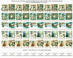 s26899) SWEDEN 1986/87 MNH** Tubercolosis Christmas Sheet God Helg cinderella