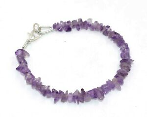 Natural-Pink-Amethyst-Chips-Nuggets-Smooth-Loose-Beads-7-034-Strand-Bracelet