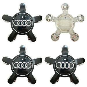 4-x-AUDI-Alloy-Wheel-Black-Star-Centre-Caps-135MM-A3-A4-A5-A6-A7-A8-S3-S4-S5