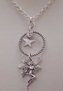 Fairy Pendant Star Rhinestone Silver plated Chain Necklace 18034 Unwanted Gift - London, United Kingdom - Fairy Pendant Star Rhinestone Silver plated Chain Necklace 18034 Unwanted Gift - London, United Kingdom