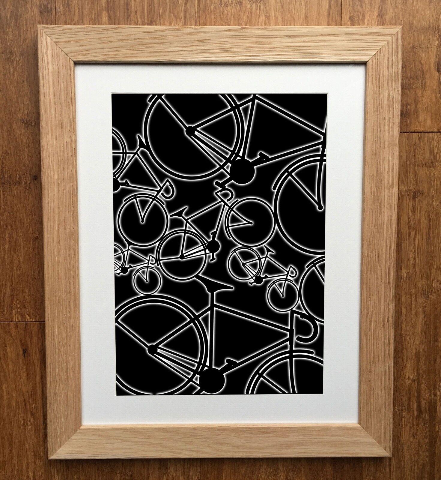Cycling Print - Road Bikes - Cycling Gift - Free Post - High Quality - Bike