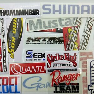 Fishing-Stickers-large-LOT-of-22-Decals-for-Brand-Lovers