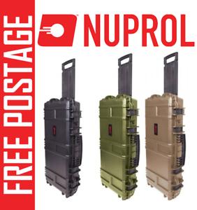 NUPROL-MEDIUM-SMG-Hard-Case-Airsoft-Rifle-Storage-PNP-WAVE-Foam-ABS-PLASTIC-BB