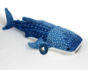 Stofftier-Walhai-gross-XL-Hai-Plueschtier-Kuscheltier-Pluesch-Laenge-ca-50cm