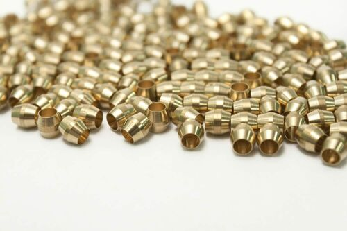 """10 Pack Lot 1//8/"""" Tube Ferrule Brass Compression Sleeve Ring Fittings"""