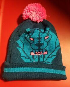 NWT Nike Lebron James Winter Beanie Hat Blue Force Pink Pom Unisex ... f413868111db