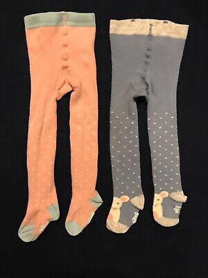 Newborn Infant Sizes Baby Girls Orange Tights with Polka Dot Bow Preemie