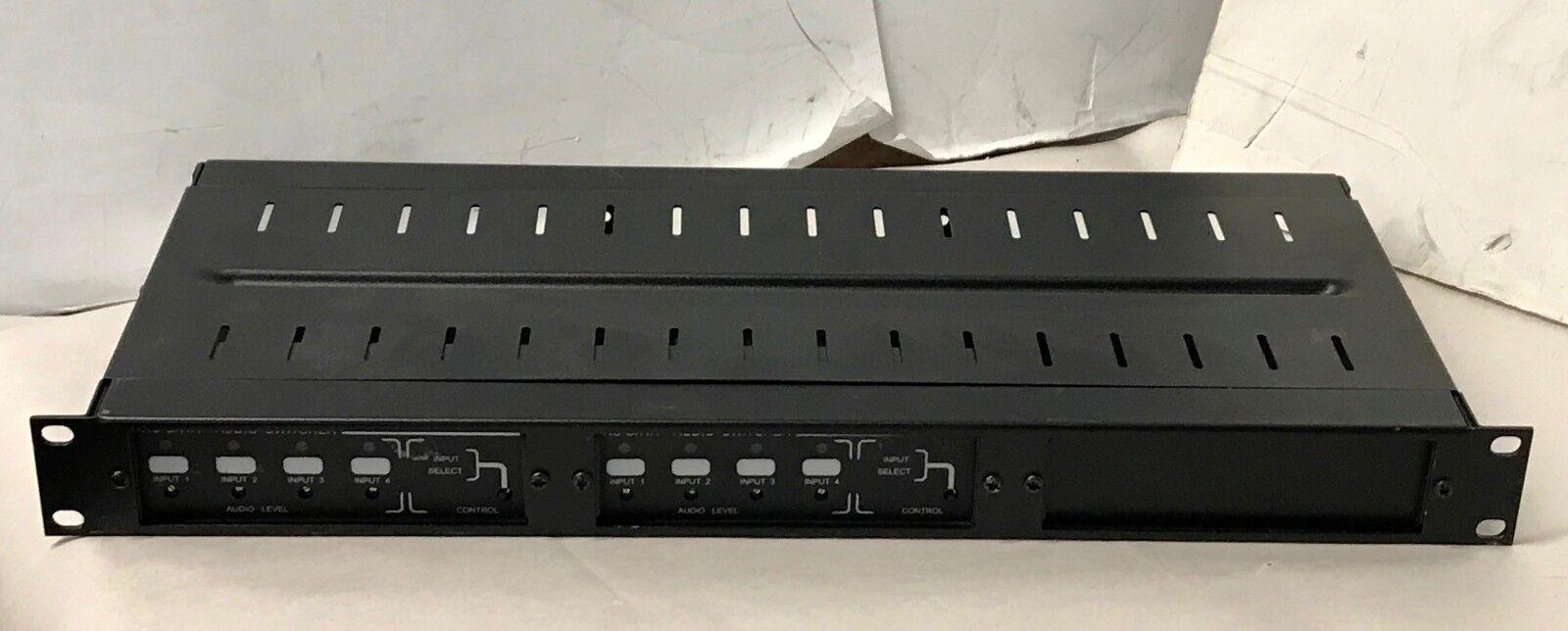 LOT OF 2  RDL RU-SX4A Balanced Audio Switcher w  enclosure ,Rack Mount