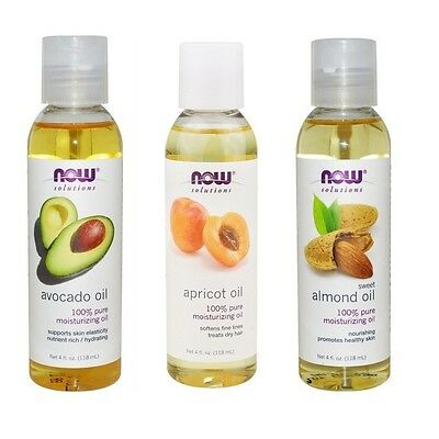Now Foods Avocado, Apricot, Almond Oil, Skin and Hair Solutions, (3 Pack)