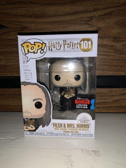 Funko Filch Mrs Norris 101 Harry Potter 2019 Nycc Vinyl Pop