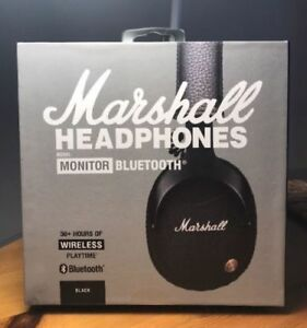 2018 new marshall monitor bluetooth headset bass mic. Black Bedroom Furniture Sets. Home Design Ideas