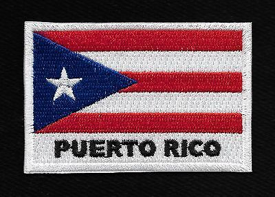 PUERTO RICO FLAG PATCH SAN JUAN  PUERTO RICAN EMBROIDERED PATCH DIY