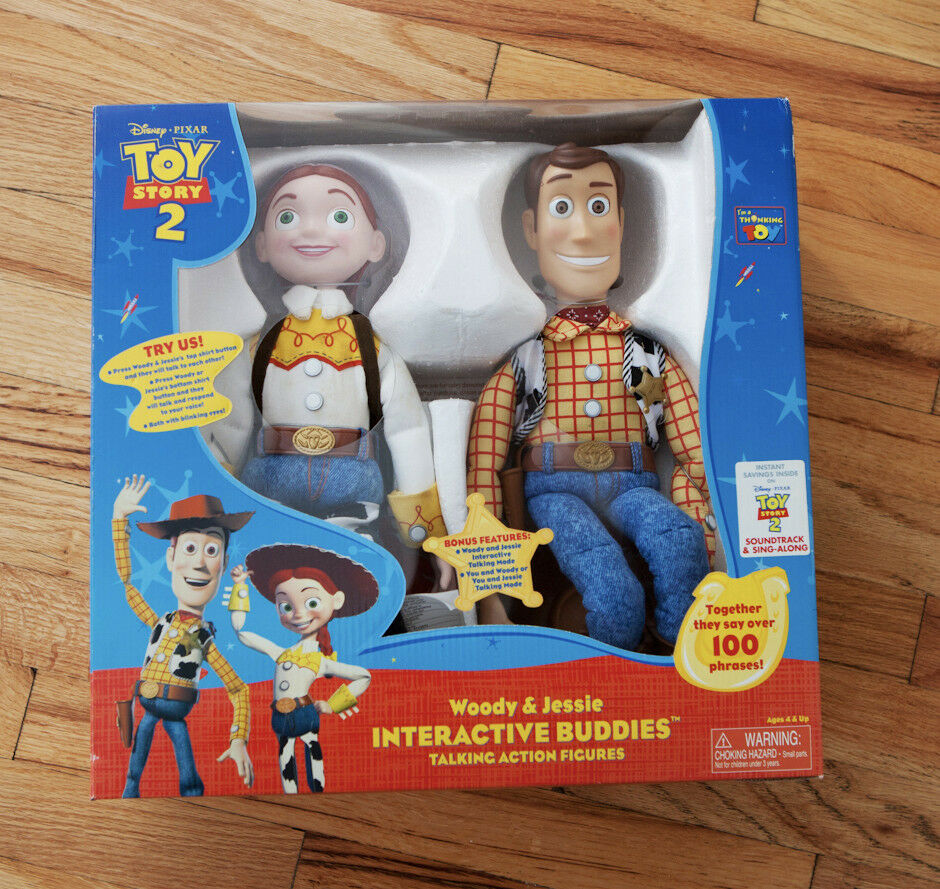 Toy Story 2 Interactivo Buddies Woody & Jessie hablando de figuras de acción