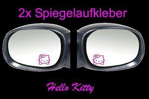 2x-Hello-Kitty-Spiegel-Auto-Aufkleber-Sticker-4-5cm-x-4-5cm-Fun-Tankdeckel