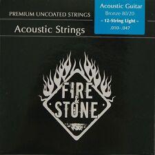 Fire&Stone 12-String Acústica Oeste Guitarra 80/20 Bronce Acordes KIT